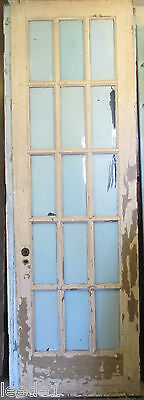 Oversize French Door Full Bevel Yellow Pine 15 Light Architectural Salvage