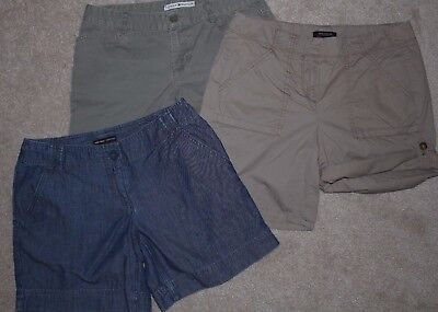EUC Lot of 3 pairs of Shorts NY & CO, Tommy Hilfiger, Ann Taylor sz 4 Modest