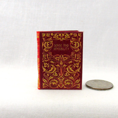 SENSE AND SENSIBILITY 1:6 Scale Book Readable Illustrated Miniature Play Scale