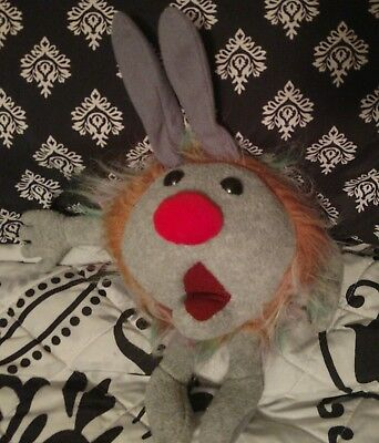 Vintage Pair The Big Comfy Couch Dust Bunny Toy Stuffed Animal