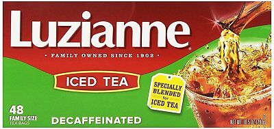 Luzianne Specially Blended for Iced Tea, Decaffeinated Family Sized, 48-Count