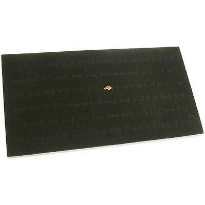 72 Slot Black Jewelry Travel Ring Insert Display Pad New