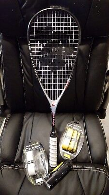 Black Knight BK9110 Ti Squash Racquet - Excellent Condition - with accessories!