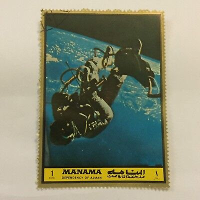 Space Postage Stamp Collectable International Dependency Of Ajmar