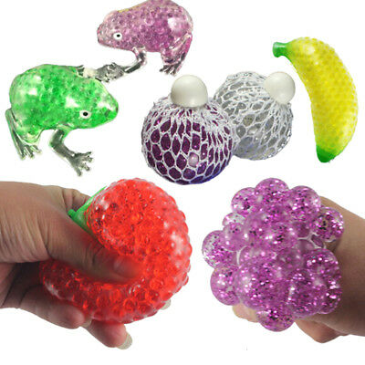 Novelty Stress Fruit Ball Squeeze Frogs Ice Cream Squishy Stress Relief Toy LJ