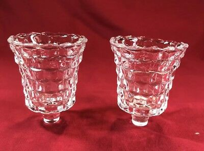 """Set of 2 Home Interior Lady Love Clear Votive Cups , 3"""" Tall"""