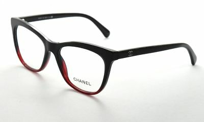 Chanel Eyeglasses  CH3341 1559     Black & Red Gradient Eyeglasses Frames 52mm