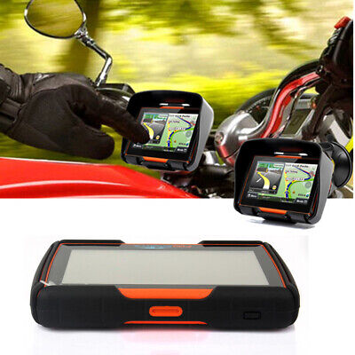 """Motorcycle 4.3"""" GPS Touch Screen Car GPS Navigation Waterproof Bluetooth 8GB+Map"""