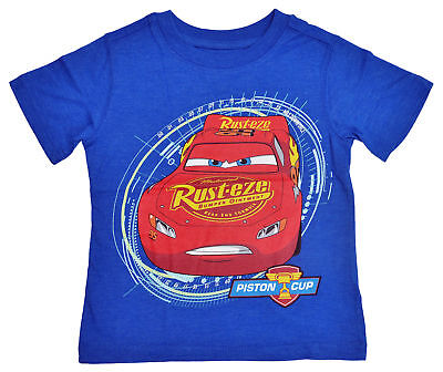 Disney Cars Lightning McQueen Toddler Boys T-Shirt - Blue