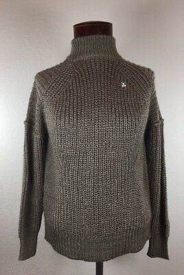 cb734dfc3c88a9 Obey Womens Sweater Thick Knit Size XS Gray Turtle Neck Retails  70.00