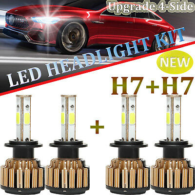 H7+H7 car led headlight CREE 4pcs High/Low Beam For Hyundai Sonata Azera Tiburon