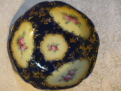Beautiful Hand Painted Cobalt Blue Decorated Nippon Bowl