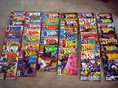 X-Men Lot of 60 Assorted Comic Books   Direct Editions  Marvel