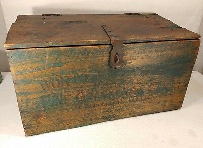 Antique 1800's Worts Kirk & Bigelow Biscuits & Cakes Bakery Crate - Toledo, OH