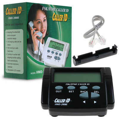 LCD DTMF FSK Caller ID Box with Cable for Mobile Telephone Call History Display