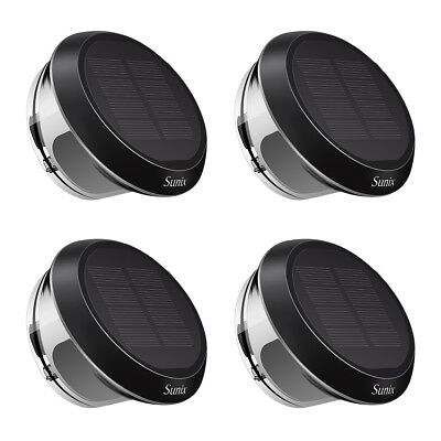Solar Powered Brighter IP65 LED Fence Light Outdoor Garden Wall Pathway Lamp Hot
