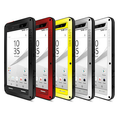 LOVE MEI Water/Shockproof Dual Aluminum Metal Case+Tempered Glass Cover For SoDY