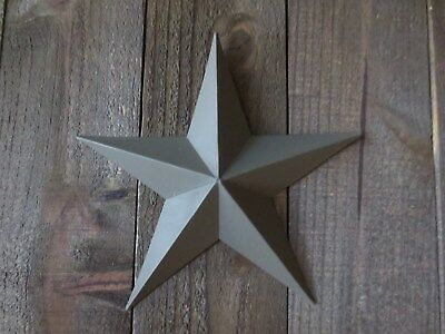 """Lot of 2 Country Primitive 14"""" Green Barn Stars Rustic Wall Decor Dimensional"""