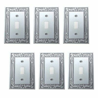 6 Switch Plates Chrome-plated Brass Victorian Style Set of 6 | Renovator's Supp