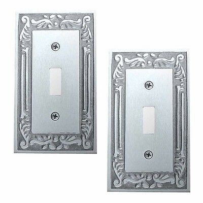 2 Switch Plates Chrome-plated Brass Victorian Style Set of 2 | Renovator's Supp