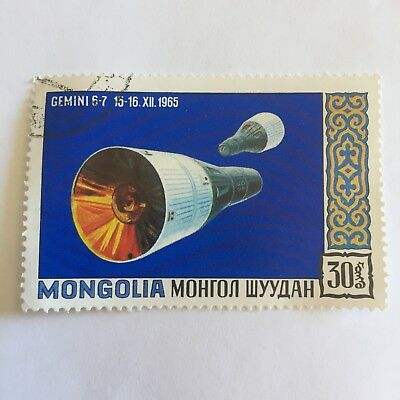 Space Postage Stamp Collectable International Gemini Mongolia