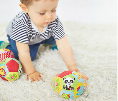 Color Baby Children's Ring Bell Ball Baby Cloth Music Sense Learning Toy Ball JP