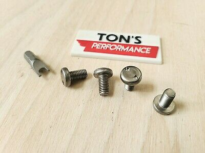 Black ACURA luxury Auto License Plate Screws Zinc Steel bolts OEM replacement
