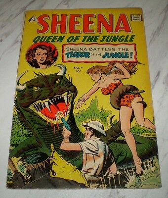 Sheena Queen of the Jungle #9 VG 4.0 OW pages Unrestored 1958 series I.W.