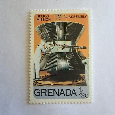 Space Postage Stamp Collectable Hellios Mission Assembly