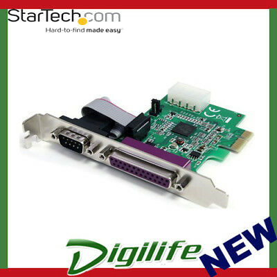 STARTECH 1S1P Native PCI Express Parallel Serial Combo Card with 16950 UART