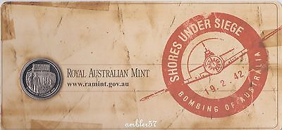 ** 2012 Shores Under Siege 20 cent coin carded UNC **