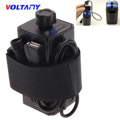 8.4V 4x 18650 Waterproof Battery Pack Case House Cover For Bicycle Bike Lamp mk