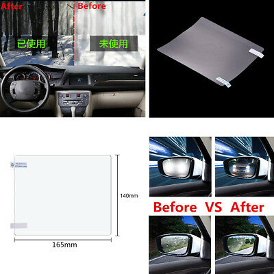 2Pcs Anti water mist Anti-scratch Hydrophilic Rainproof Car Glass Film 165*140mm