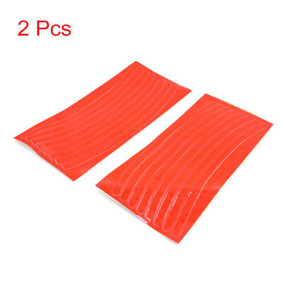 2Pcs Orange Wheel Rim Reflective Tape Stickers Stripe Decals for Motorcycle Car
