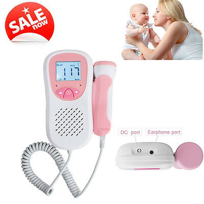 FHR display LCD Backlight Baby Fetal Doppler Heart Beat Monitor 3MHz probe FDA