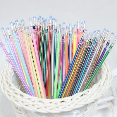 10-50pcs Colorful Gel Pens Glitter Drawing Painting Crafts Markers Refills
