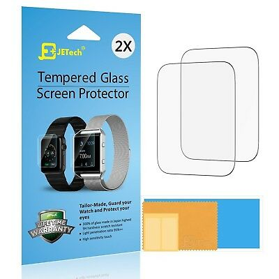 JETech 2-Pack Screen Protector for Apple Watch 42mm Serial 1 2 3 Tempered Glass