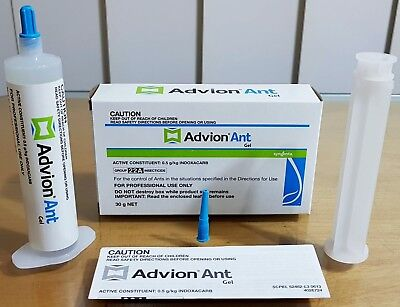 2 X 30g Syngenta Advion Ant Killer Gel Bait Home Office Factory Pest Control