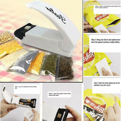 Mini Portable Sealing Heat Handheld Plastic Bag Impluse Sealer Kitchen Tool GB
