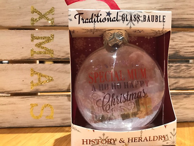 Personalised Christmas Glass Bauble Special Mum