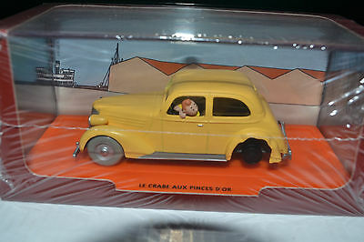 Voiture Miniature 1/43  Tintin  La  Voiture Accidentee