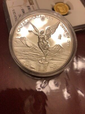 2010 Proof 2 Ounce Mexican Libertad, Low Mintage
