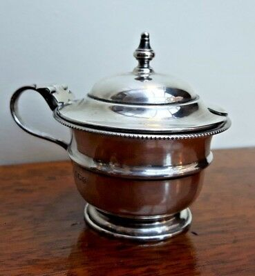 Emile Viners Solid Silver Mustard Pot - Sheffield 1931 - VGC