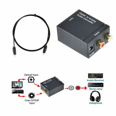 Optical Coaxial Toslink Digital to Analog Audio Converter Adapter RCA LR 3.5mm G