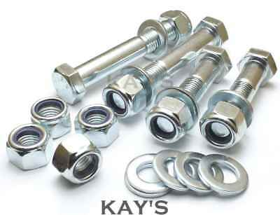 M16 Part Threaded Bolts + Nyloc Nuts + Washers High Tensile 8.8 Zinc Plated Hex