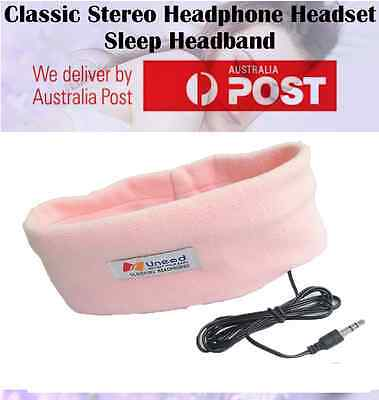 Sleep Headphones SleepPhones Headband Mask for Running Sleeping Relaxing - PINK