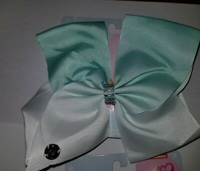 Jojo Siwa Bow Large White With Mint Ombre With Stones ... Gorgeous