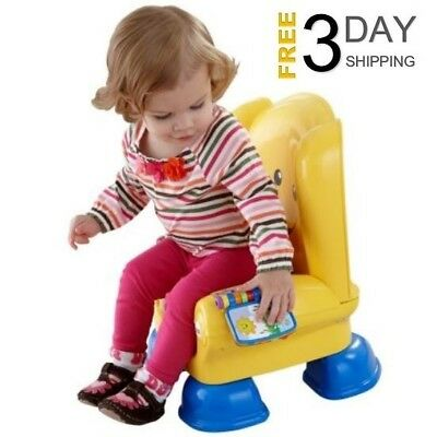 Fisher-Price Yellow Smart Stages Chair Laugh and Learn Toddler Educational Toy
