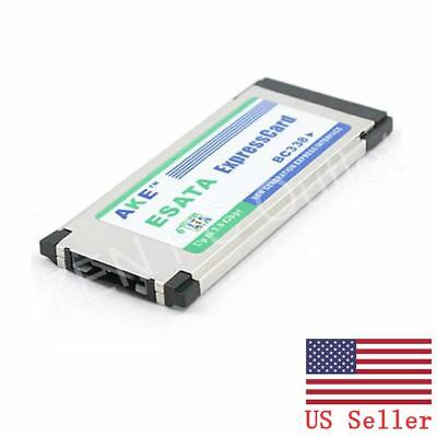 ExpressCard 34mm eSATA 2.0 II Hidden Inside Adapter For Laptop Notebook US Stock