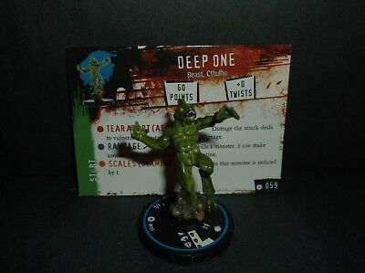 HORRORCLIX Deep One #059, Experienced, Blue, W/Card Base Set